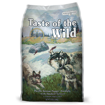 Taste Of The Wild Pacific Stream, Puppy – prekajeni losos – 13 kg