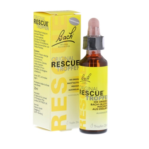 Bach Rescue kapljice za pomiritev - 10 ml