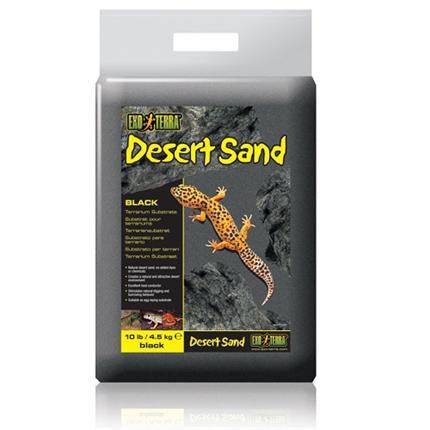Exo Terra puščavski pesek, črn - 4,5 kg