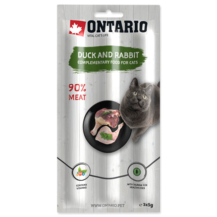 Ontario Cat Stick - raca in zajec - 3 x 5 g