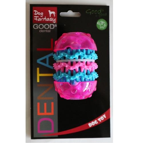 Dog Fantasy Dental valj, roza - 9,8 x 6,4 cm