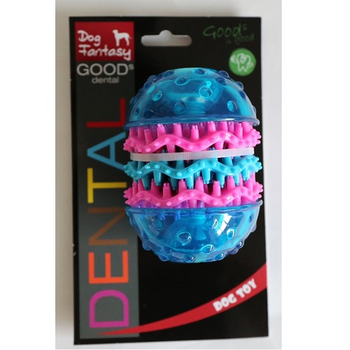 Dog Fantasy Dental valj, modra - 10,8 x 8 cm