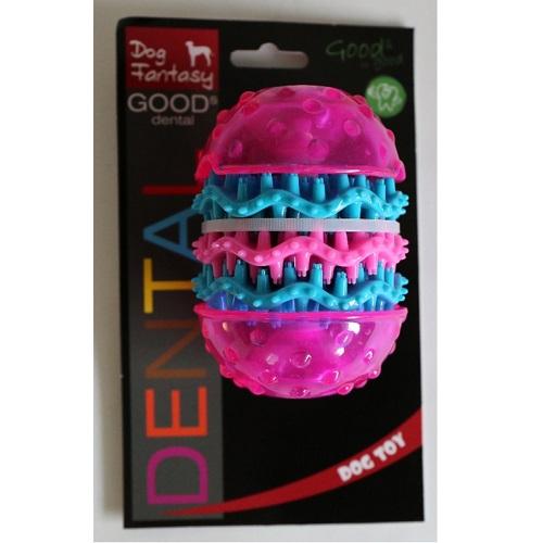 Dog Fantasy Dental valj, roza - 10,8 x 8 cm