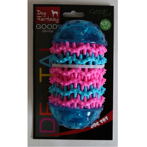 Dog Fantasy Dental valj, modra - 14,4 x 8 cm