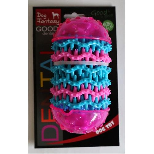 Dog Fantasy Dental valj, roza - 14,4 x 8 cm