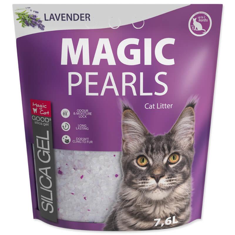 Magic Pearls Silica posip za mačje stranišče, sivka - 7,6 L