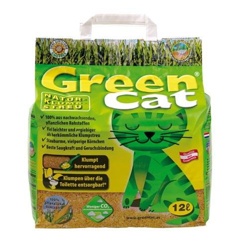 Green Cat posip za mačje stranišče iz koruze in pšenice - 12 L
