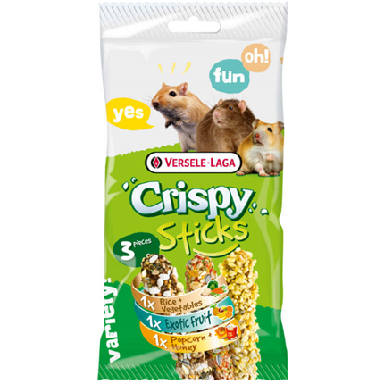 Versele-Laga Crispy Triple krekr s pokovko, zelenjavo in tropskimi sadeži - 3 x 55 g