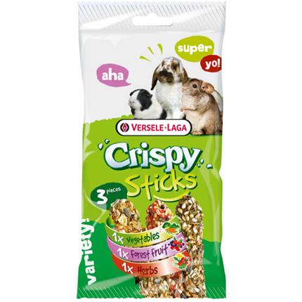 Versele-Laga Crispy Triple zelenjava, gozdni sadeži in zelišča - 3 x 55 g