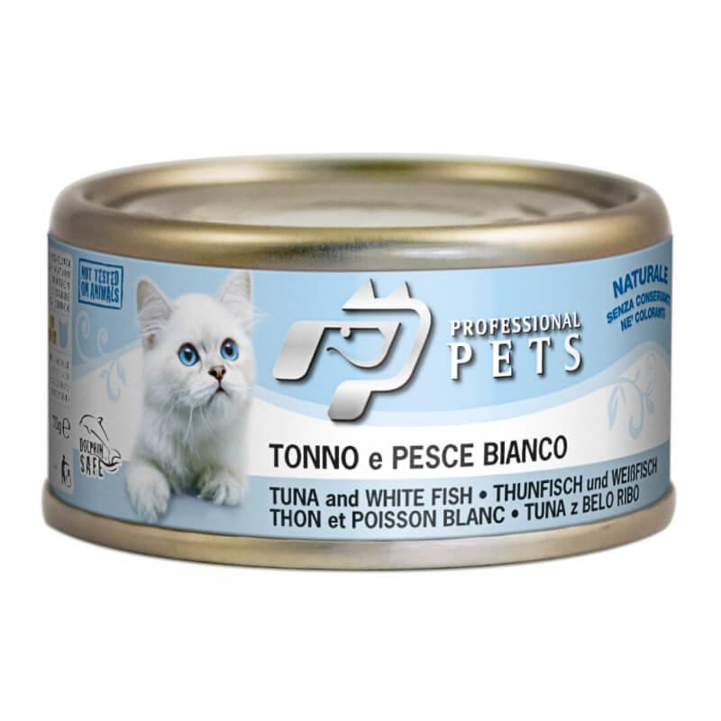 Professional Pets Naturale – tuna in bela riba - 70 g
