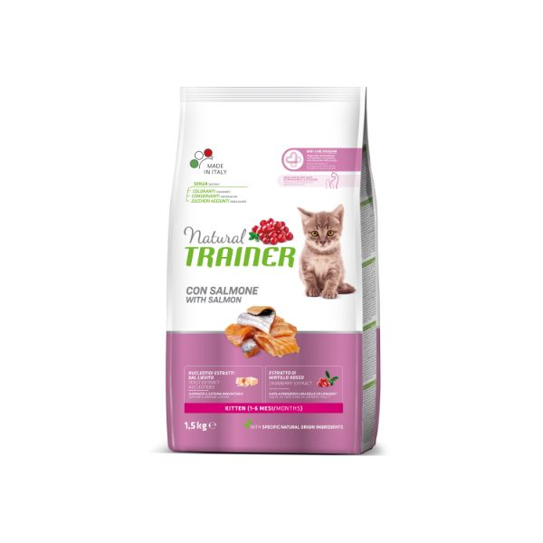Trainer Cat Natural Kitten - losos - 1,5 kg