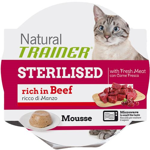 Trainer Natural Mousse Sterilized - govedina - 85 g