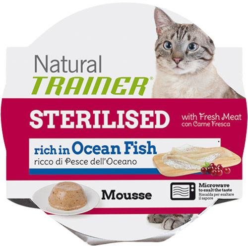 Trainer Natural Mousse Sterilized - morska riba - 85 g