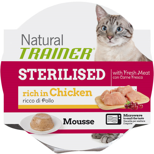 Trainer Natural Mousse Sterilized - piščanec - 85 g