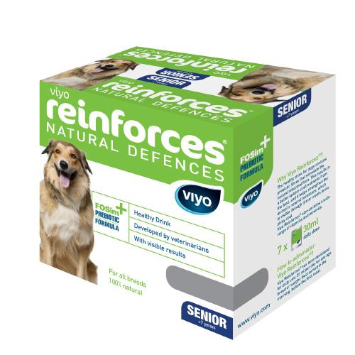 Viyo Reinforces prebiotični napitek za pse Senior - 7 x 30 ml