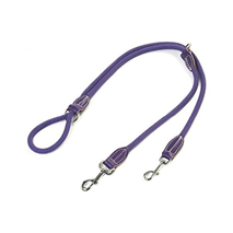 Carbone Bianca dvojni povodec iz vrvi (fi 12 mm), vijolična - 200 cm