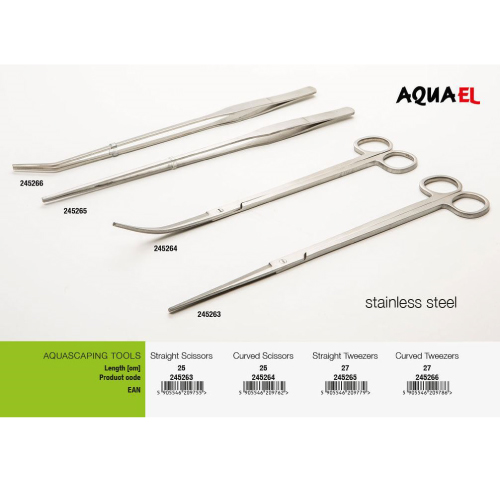Aquael pinceta, ukrivljena - 27 cm