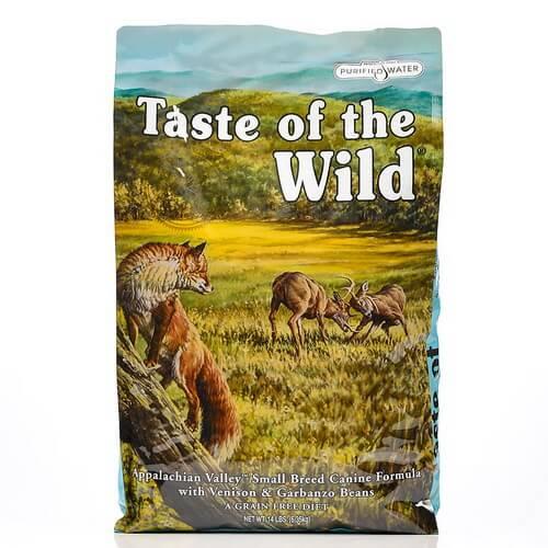 Taste Of The Wild Appalachian Valley, Small – prekajena divjačina, jagnjetina in čičerika 2 kg