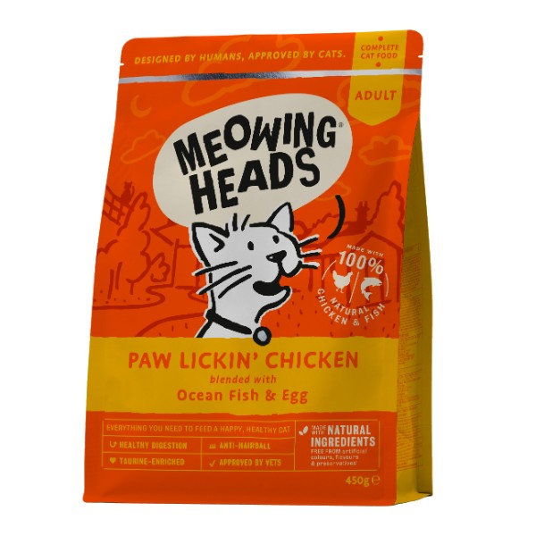 Meowing Heads Hey Good Looking - piščanec in riba - 4 kg
