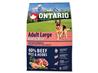 Ontario Adult Large - govedina, puran in riž 2,25 kg