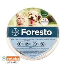 Foresto ovratnica za pse in mačke do 8 kg - 1,25g+0,56g