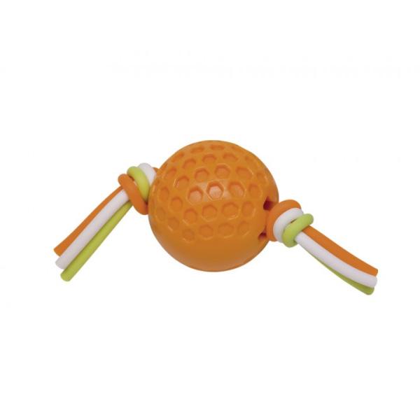Nobby gumijasta žoga na silikonski vrvi, oranžna – 7,5 cm