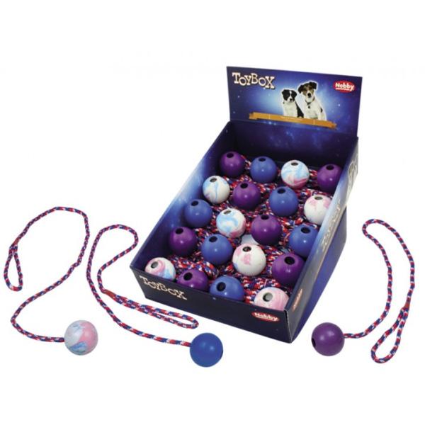 Nobby igrača žoga z vrvjo – 5 cm / 100 cm