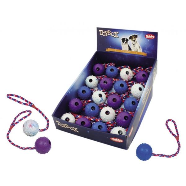 Nobby igrača žoga z vrvjo – 5 cm / 30 cm