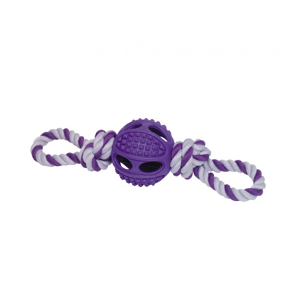 Nobby igralna vrv z žogo, zelena – 27 cm