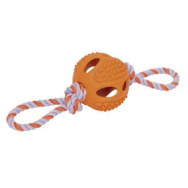 Nobby igralna vrv z žogo, oranžna – 37 cm