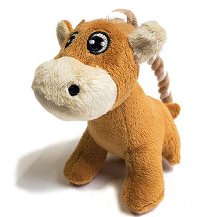 Nobby plišaste igrače na vrvi, osel / krava / pujs – 14 cm