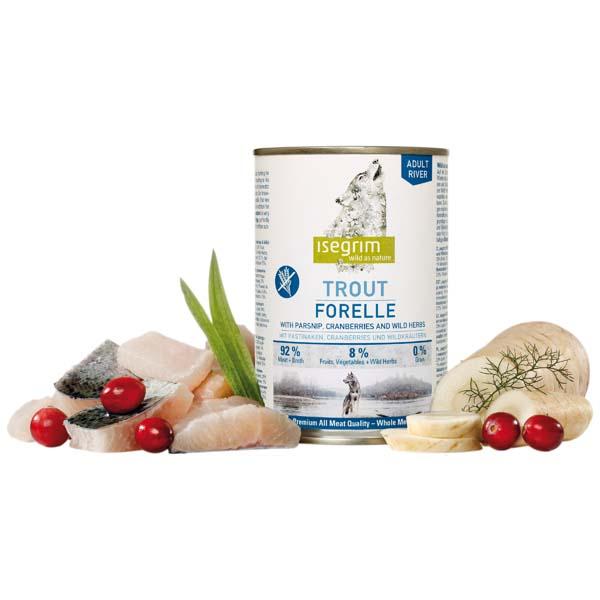 Isegrim River Adult – postrv s pastinakom in mahovnicami – 400 g