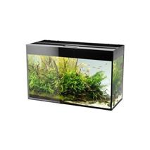 Aquael akvarij Glossy 80 LED, črn - 80 x 35 x 54 cm (125 l)