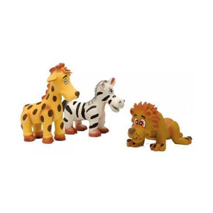 Beeztees Puppy živali iz lateksa - žirafa, zebra, lev -12 x 9 cm