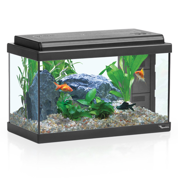 Akvarij Aquatlantis Advance LED 40 (23 L), črn - 41,5 x 20,5 x 27,5 cm
