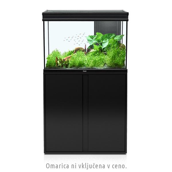 Akvarij Aquatlantis Elegance Expert LED 80 (180 L), črn - 81 x 40,4 x 55 cm