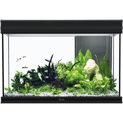 Akvarij Aquatlantis Fusion LED 80 (176 L), črn - 80 x 40 x 55 cm