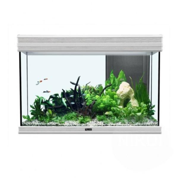 Akvarij Aquatlantis Fusion LED 80 (176 L), beljen hrast - 80 x 40 x 55 cm