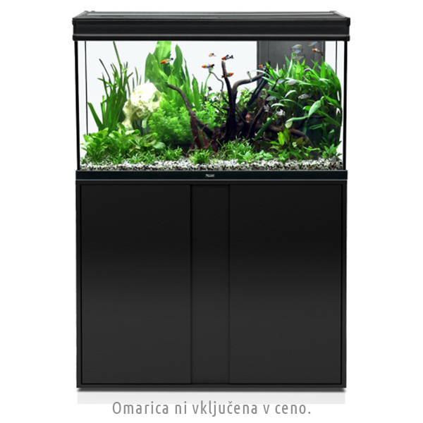 Akvarij Aquatlantis Elegance Expert LED 100 (248 L), črn - 102,2 x 40,4 x 60 cm