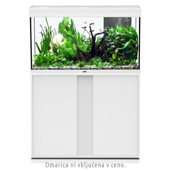 Akvarij Aquatlantis Elegance Expert LED 100 (248 L), bel - 102,2 x 40,4 x 60 cm