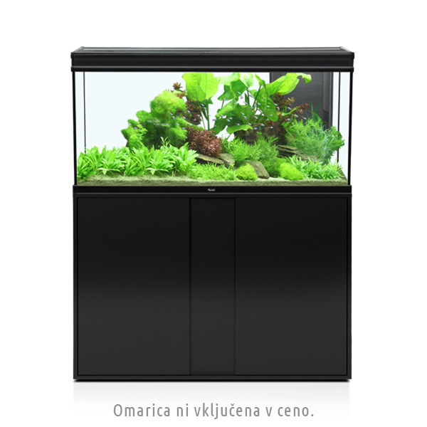 Akvarij Aquatlantis Elegance Expert LED 120 (248 L), črn - 102,2 x 40,4 x 60 cm