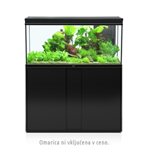 Akvarij Aquatlantis Elegance Expert LED 120 (293 L), črn - 102,2 x 40,4 x 60 cm