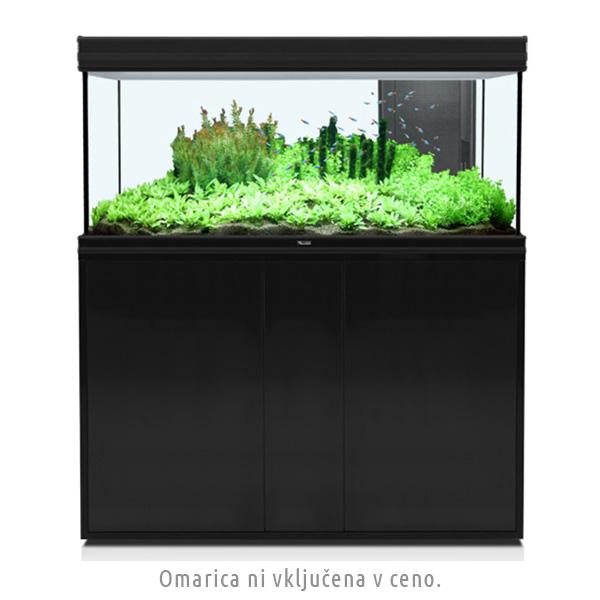 Akvarij Aquatlantis Fusion LED 120 (288 L), črn - 120 x 40 x 60 cm