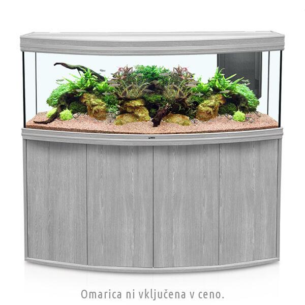 Akvarij Aquatlantis Fusion Horizon LED 150 (525 L), beljen hrast - 150 x 55 x 60 cm