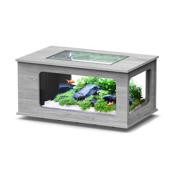 Akvarij/mizica Aquarlantis Aquatable, beljen hrast - 100 x 63 x 51,5 cm