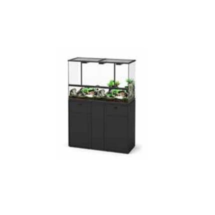 Aquatlantis omarica za terarij, črna - 118 x 45 x 70 cm