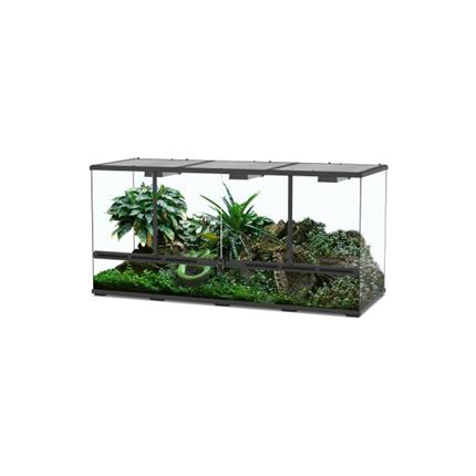 Terarij Aquatlantis, črn - 132 x 45 x 60 cm