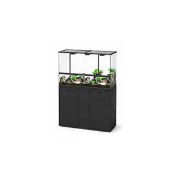 Aquatlantis omarica za terarij, črna - 132 x 45 x 70 cm
