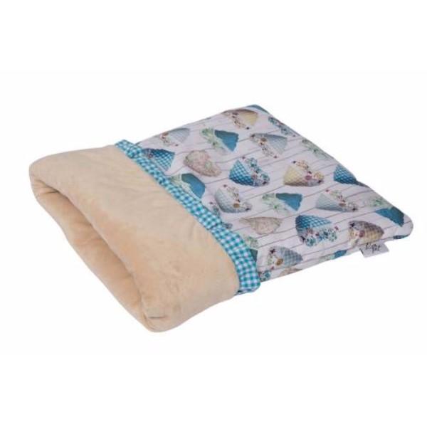 Leopet vreča Iride, modra s srčki - 40x50 cm