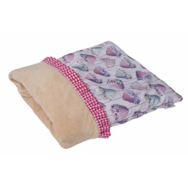 Leopet vreča Iride, roza s srčki - 40x50 cm
